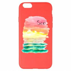 Чехол для iPhone 6 Plus/6S Plus Watercolor pattern with sea