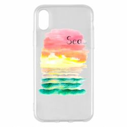 Чехол для iPhone X/Xs Watercolor pattern with sea