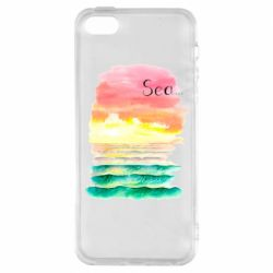 Чехол для iPhone5/5S/SE Watercolor pattern with sea