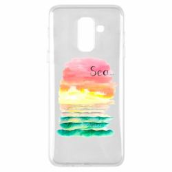 Чехол для Samsung A6+ 2018 Watercolor pattern with sea