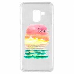 Чехол для Samsung A8 2018 Watercolor pattern with sea