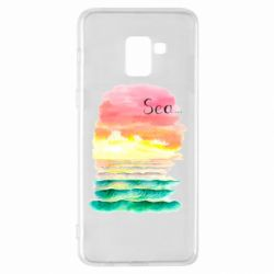 Чехол для Samsung A8+ 2018 Watercolor pattern with sea