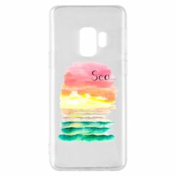 Чехол для Samsung S9 Watercolor pattern with sea