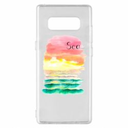 Чехол для Samsung Note 8 Watercolor pattern with sea