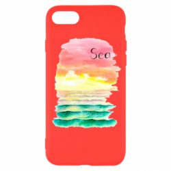 Чехол для iPhone 8 Watercolor pattern with sea