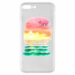 Чехол для iPhone 8 Plus Watercolor pattern with sea