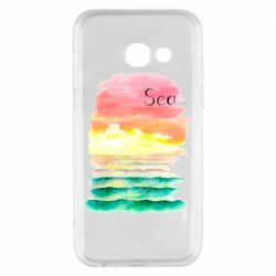 Чехол для Samsung A3 2017 Watercolor pattern with sea