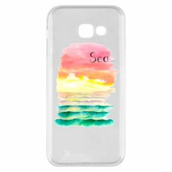 Чехол для Samsung A5 2017 Watercolor pattern with sea