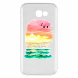 Чехол для Samsung A7 2017 Watercolor pattern with sea