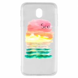 Чехол для Samsung J7 2017 Watercolor pattern with sea