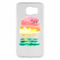 Чехол для Samsung S6 Watercolor pattern with sea