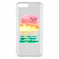 Чехол для Xiaomi Mi6 Watercolor pattern with sea