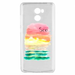 Чехол для Xiaomi Redmi 4 Watercolor pattern with sea