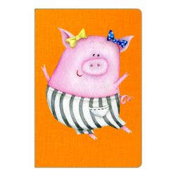 Блокнот А5 Watercolor Pig with paper texture
