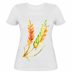 Жіноча футболка Watercolor spikelets