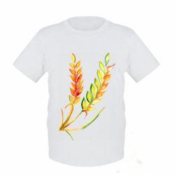 Дитяча футболка Watercolor spikelets