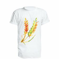 Подовжена футболка Watercolor spikelets