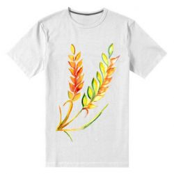 Чоловіча стрейчева футболка Watercolor spikelets
