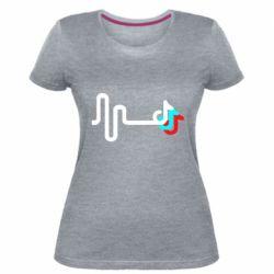 Жіноча стрейчева футболка Wave tik tok