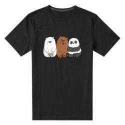 Мужская стрейчевая футболка We are ordinary bears