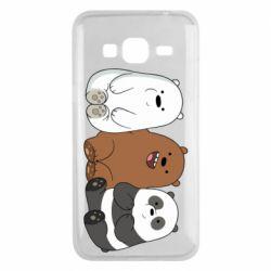 Чехол для Samsung J3 2016 We are ordinary bears