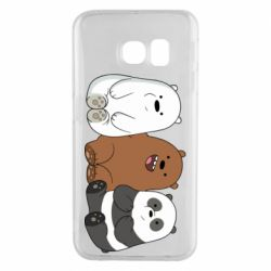 Чехол для Samsung S6 EDGE We are ordinary bears
