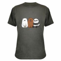 Камуфляжная футболка We are ordinary bears