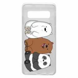 Чехол для Samsung S10 We are ordinary bears