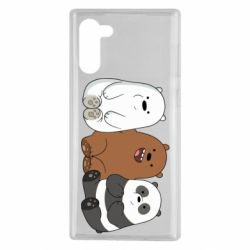 Чехол для Samsung Note 10 We are ordinary bears