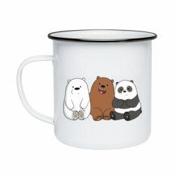 Кружка эмалированная We are ordinary bears