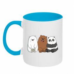 Кружка двухцветная 320ml We are ordinary bears
