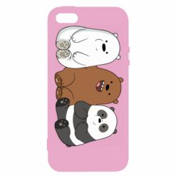Чехол для iPhone5/5S/SE We are ordinary bears