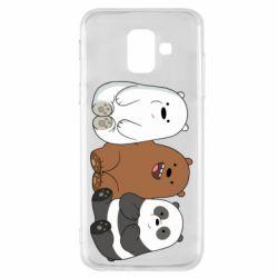 Чехол для Samsung A6 2018 We are ordinary bears
