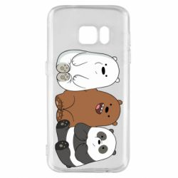Чехол для Samsung S7 We are ordinary bears