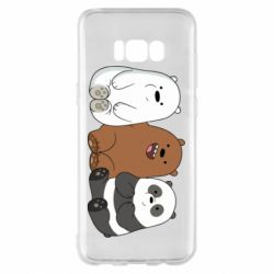 Чехол для Samsung S8+ We are ordinary bears