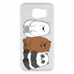 Чехол для Samsung S6 We are ordinary bears