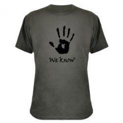 Камуфляжная футболка We know - FatLine