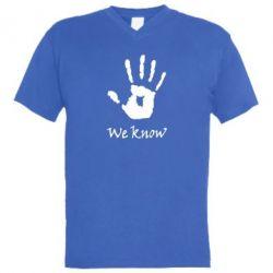Мужская футболка  с V-образным вырезом We know