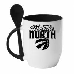 Кружка з керамічною ложкою We the north and the ball