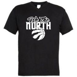 Чоловіча футболка з V-подібним вирізом We the north and the ball