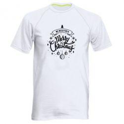 Чоловіча спортивна футболка We wish you a