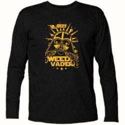 Футболка с длинным рукавом Weed Vader - FatLine