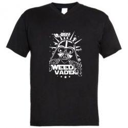 Мужская футболка  с V-образным вырезом Weed Vader - FatLine