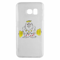 Чехол для Samsung S6 EDGE Weightlifter caricature