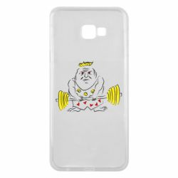 Чехол для Samsung J4 Plus 2018 Weightlifter caricature