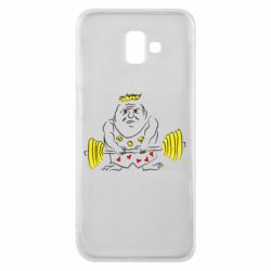 Чехол для Samsung J6 Plus 2018 Weightlifter caricature