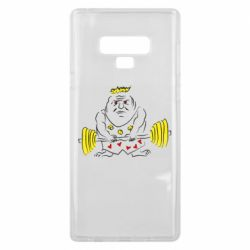 Чехол для Samsung Note 9 Weightlifter caricature