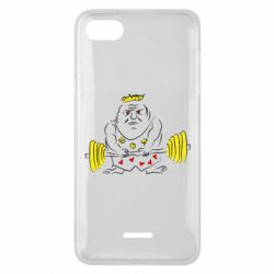 Чехол для Xiaomi Redmi 6A Weightlifter caricature