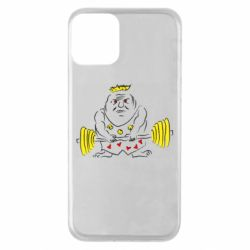 Чехол для iPhone 11 Weightlifter caricature