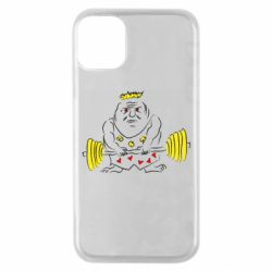 Чехол для iPhone 11 Pro Weightlifter caricature